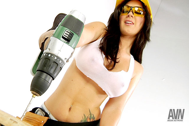 Busty construction girls