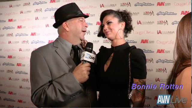Bonnie Rotten on the red carpet at Sex Awards 2013