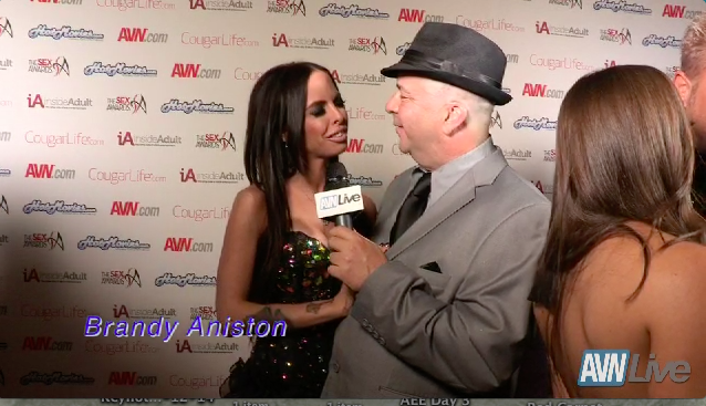 Brandy Aniston & Eric Masterson on the red carpet at 2014 Sex Awards 2013