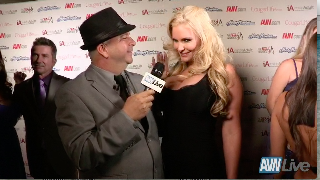 Phoenix Marie on the red carpet at the Sex Awards 2013