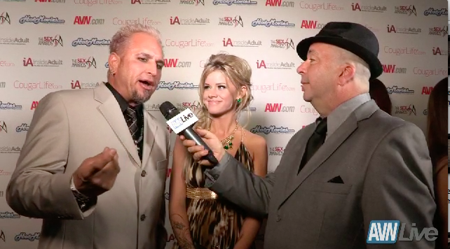 Barrett Blade and Jessa Rhodes on the red carpet at the Sex Awards 2013