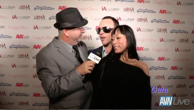 Kurt Lockwood and Gaia on the red carpet at the Sex Awards 2013