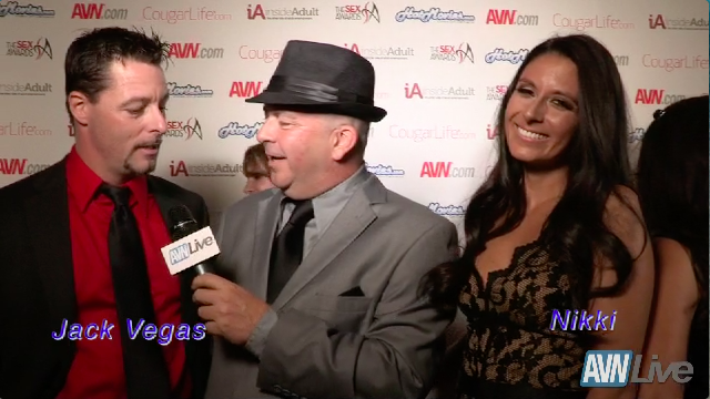 Jack Vegas and Nikki Daniels on the red carpet at the Sex Awards 2013