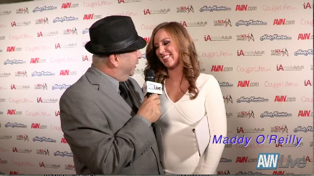 Talk with Maddy O' Reilly live from the Sex Awards 2013