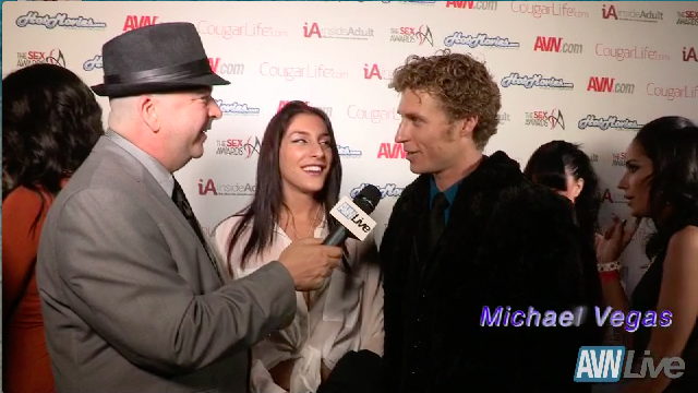 Micha Brooks and Michael Vega on the red carpet the at the Sex Awards 2013