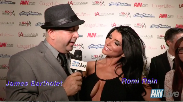 Romi Rain at the Sex Awards 2013